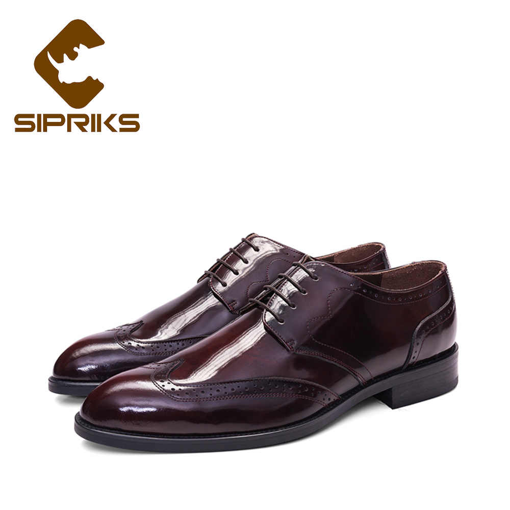 bf9372ee314f2 Sipriks Luxury Vintage Genuine Leather Gold Shoes Dark Blue Tuxedo Shoes  Elegant Mens Black Shiny Italian Goodyear Welted Shoes