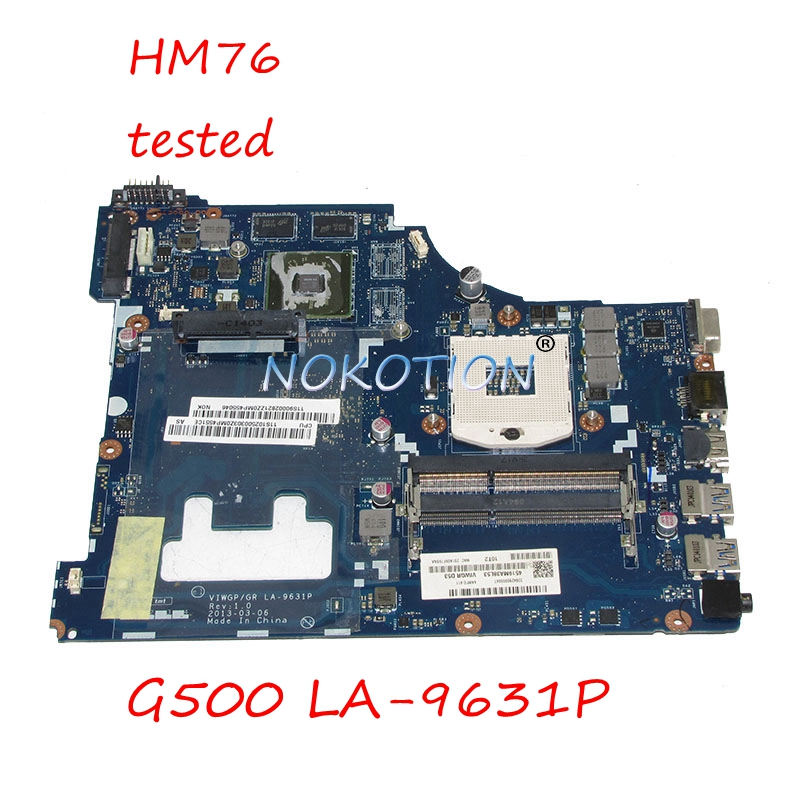 NOKOTION Main Board Laptop Motherboard For Lenovo G500 VIWGP GR LA-9631P HM76 DDR3 HD8570 2GB Video Card Main board