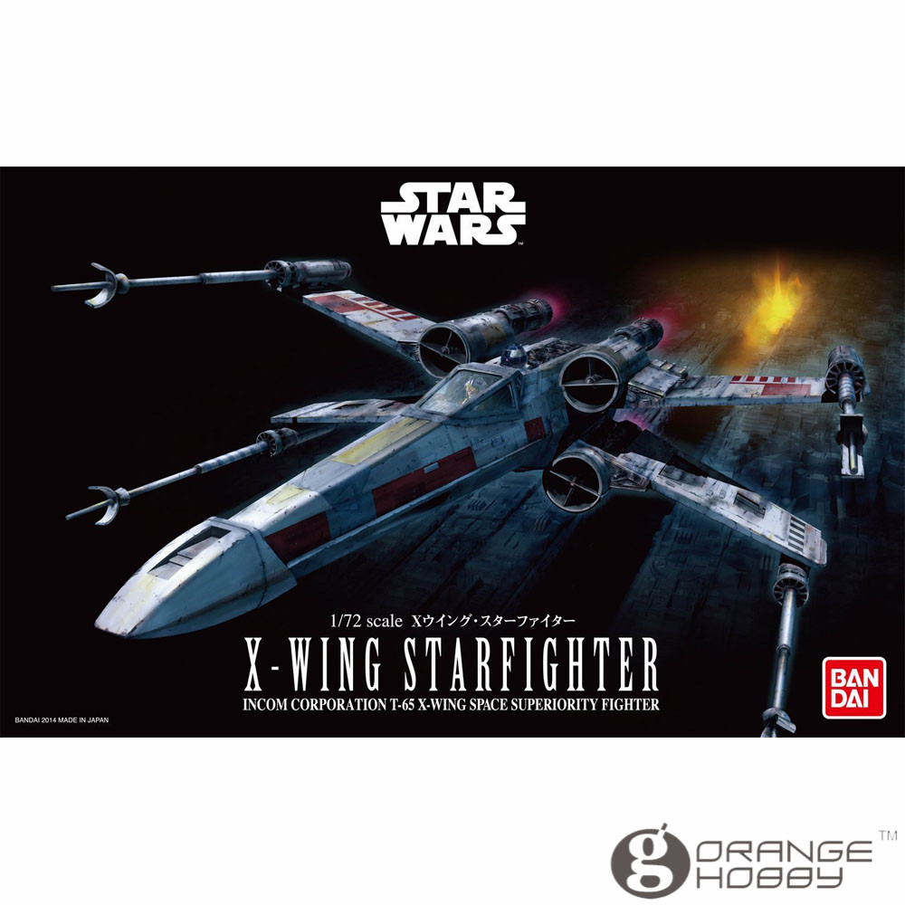 OHS Bandai Star War 1/72 X-wing Starfighter Assembly Model Kits Oh