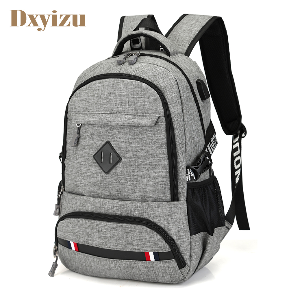 New Preppy Style Charging USB Port Backpack Men School Bags Computer Laptop Bag Travel Large Capacity College Student Backpacks 8848 brand women backpack preppy style 2017 spring new school student bag backpacks knapsack female 15 6 laptop 173 002 013