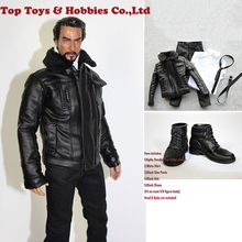 1/6 male action figure clothes 12-inch soldier Motorcycle suit jacket model FT019 is suitable for HT body