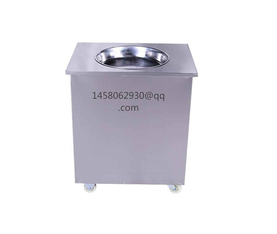 China manufactured fried ice cream roll machine Thailand Rolled Fried Ice Cream Machine fried ice cream machine 110v 220v thailand fried ice cream machine snack machine ice cream cold plate one pan fried ice cream roll machine