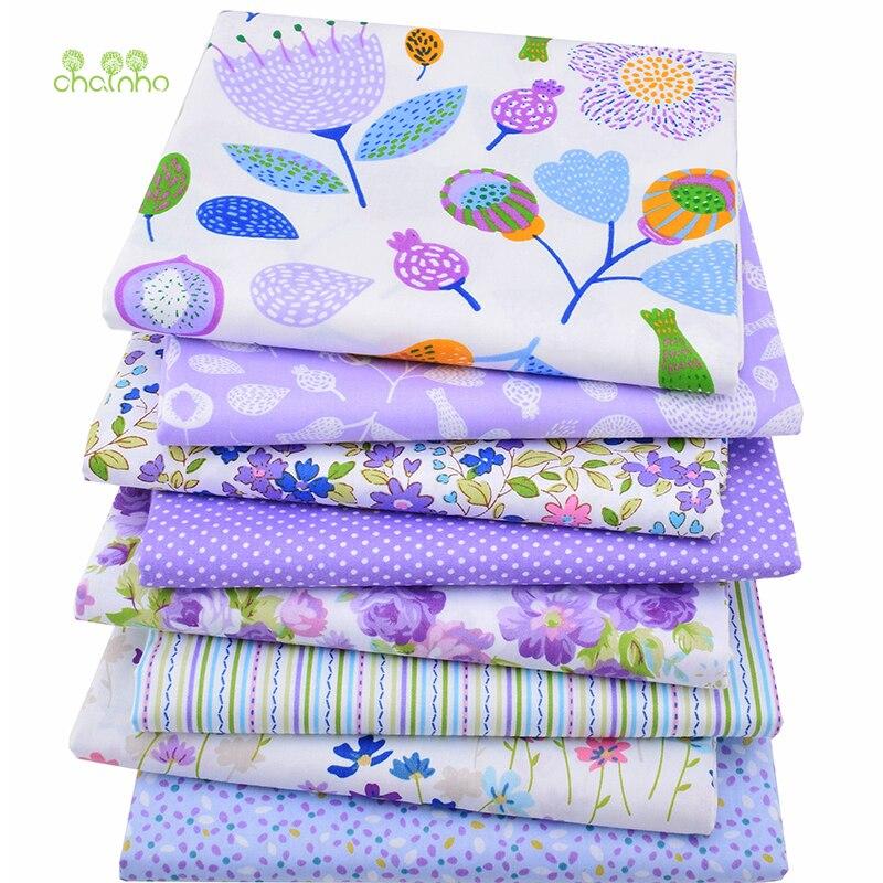 8 teile/los, Köper Baumwollgewebe Patchwork Floral Gewebetuch Von Handgemachte DIY Quilting Sewing Baby & Kinder Blätter Kleid Material