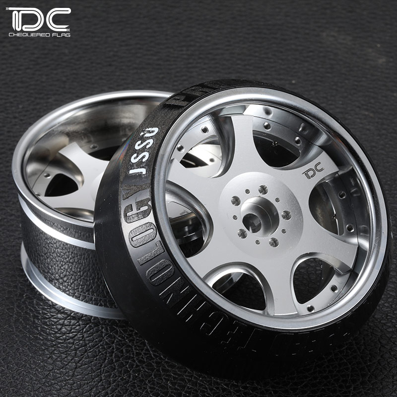4PCS DC 1:10 RC KB WHEEL Offset +6&+9 Changeable SILVER EP 1:10 RC CARS DRIFT ON ROAD RWD AWD DC-90299