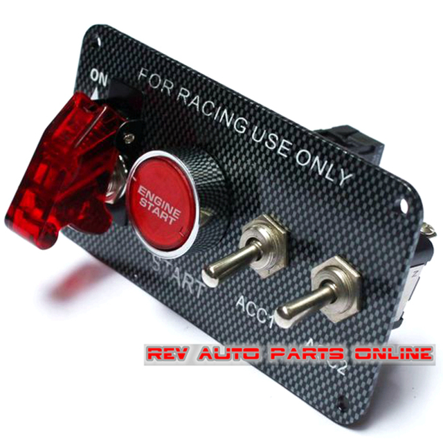 aliexpress com buy 2ac 12v carbon style flip up start car racing 2ac 12v carbon style flip up start car racing ignition switch panel wiring harness