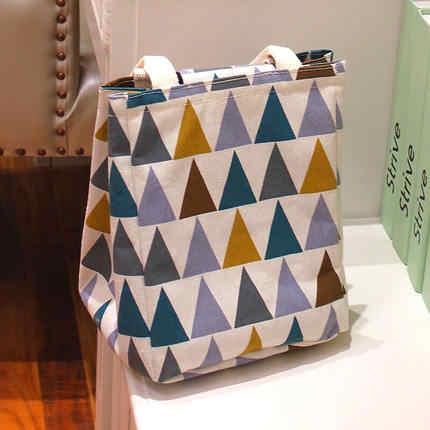 Saco Bento caixa de almoço portátil saco de isolamento folha de alumínio espessamento grande saco fresco à prova d' água saco de pano portátil