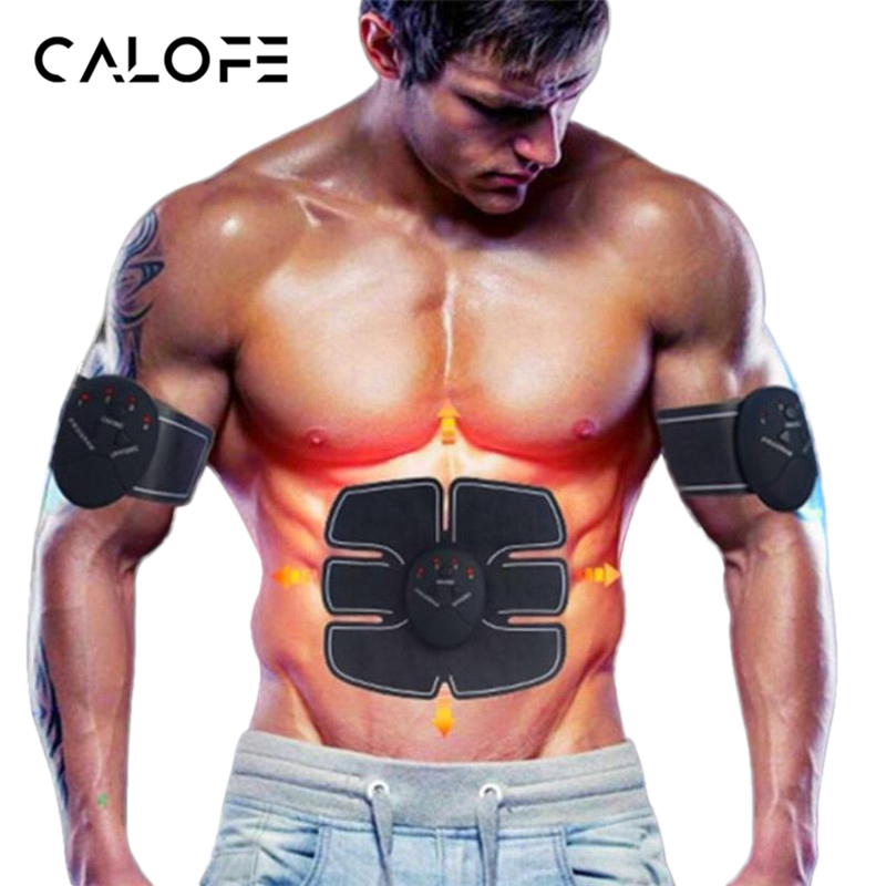 CALOFE Upgraded Electronic Muscle Exerciser Machine Abdominal Trainer Fitness Toner Belly Leg Arm Exercise Workout Equipment