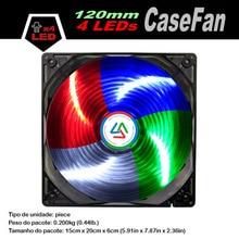 ALSEYE 120mm 4 LED Computer Fan Cooler for PC Case / CPU Cooler / Water Radiator, 12v 1300RPM Single Color led Cooling Fan