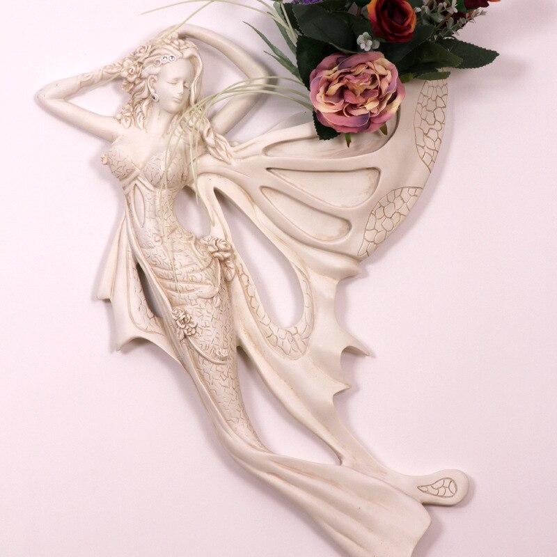 67 см креативные красивые ангелочки настенные украшения Русалка цветочные горшки настенное украшение для дома Гостиная настенные украшени