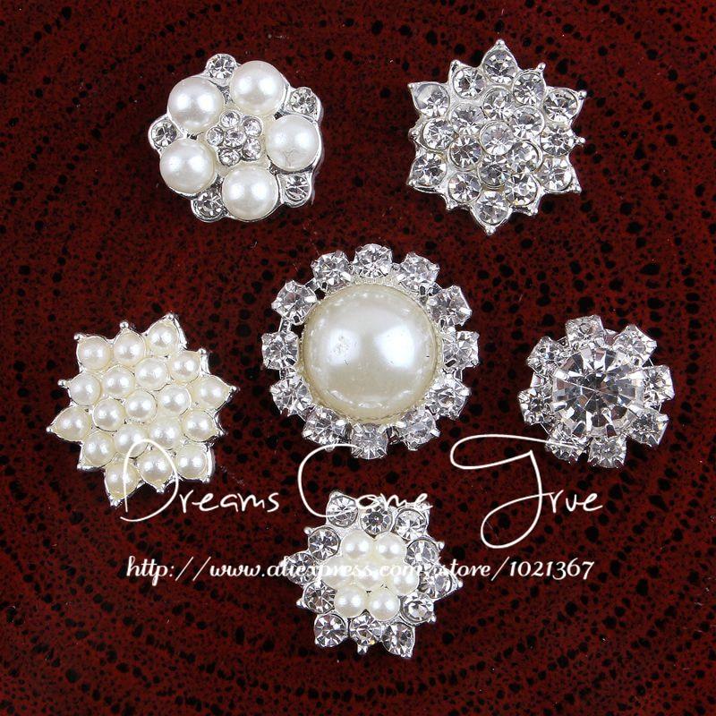 (200 teile/los) 6 Styles Schöne Mini Klare Künstliche Legierung Kristall Flatback Hochzeit Tasten Handgemachte Metall Strass Perlenknopf-in Schaltflächen aus Heim und Garten bei  Gruppe 1