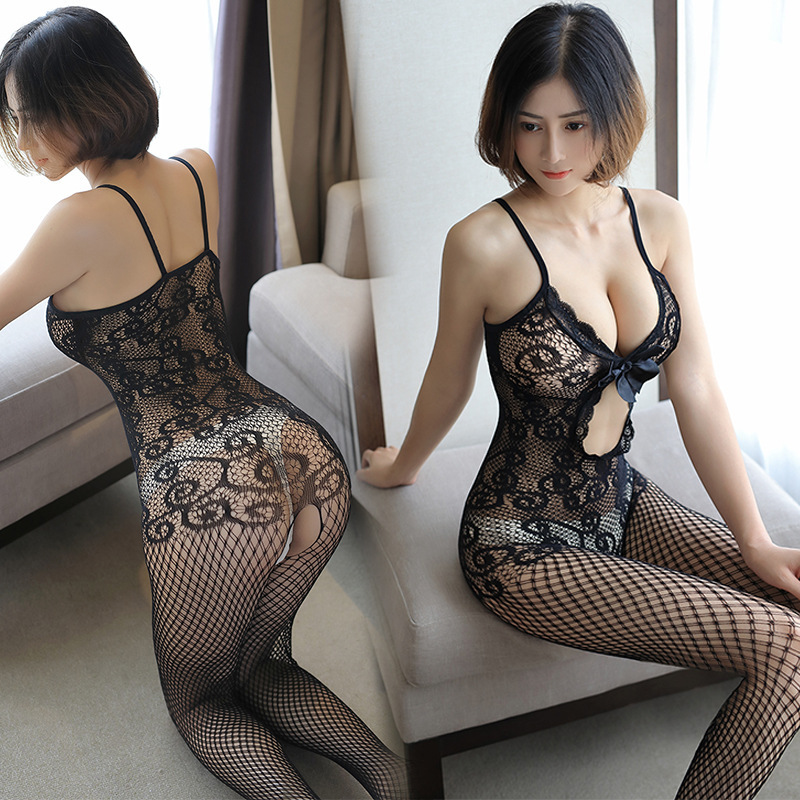 2019 New Women Sexy Lingerie Open Hollow Stockings Garter Belt Fishnet Tights Transparent Pantyhose Long Stocking image