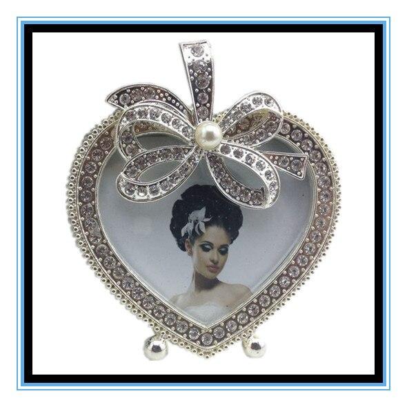 3 pulgadas blanco forma de corazón de metal foto foto marco para la ...