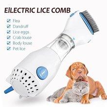 Dropship Электрический вшей гребень для собака блохи захвата гребень ПЭТ фильтр вшей удаляет вшей 3 шт фильтр перехвата