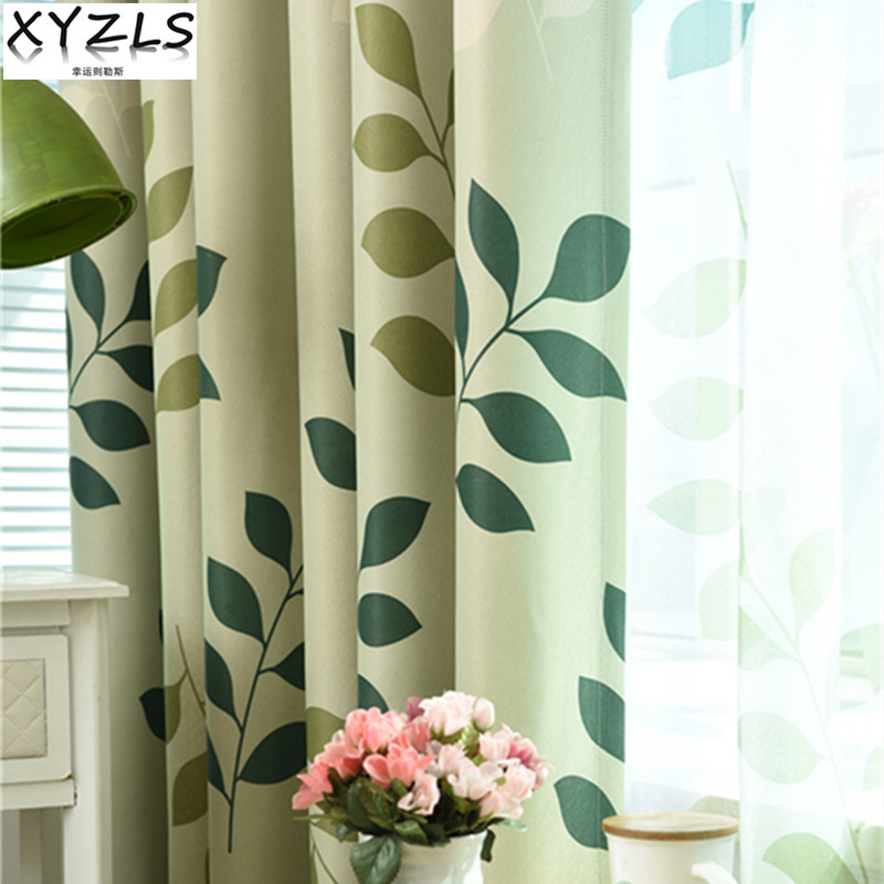 XYZLS Pastoral Tree Branch Tulle Curtain Blinds Blackout Curtains For  Living Room Bedroom Hall Balcony Home