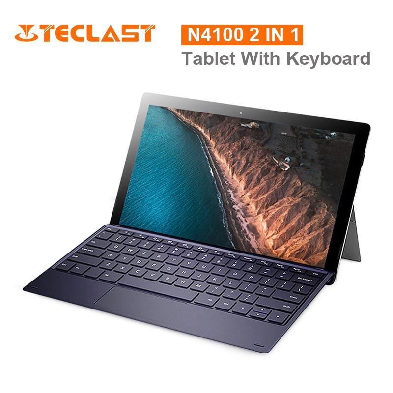X4 2 em 1 Teclast Tablet PC Laptop 11.6 'IPS Janelas Celeron 10 8 N4100 Quad Core 1.10GHz GB RAM 256GB SSD HDMI Tipo 5.0MP-C