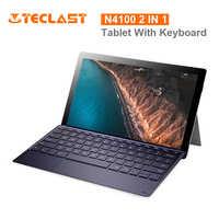 X4 2 em 1 Teclast Tablet PC Laptop 11.6 'IPS Janelas Celeron 10 N4100 Quad Core 8GB de RAM 256GB SSD 5MP HDMI Tipo C-Com Teclado