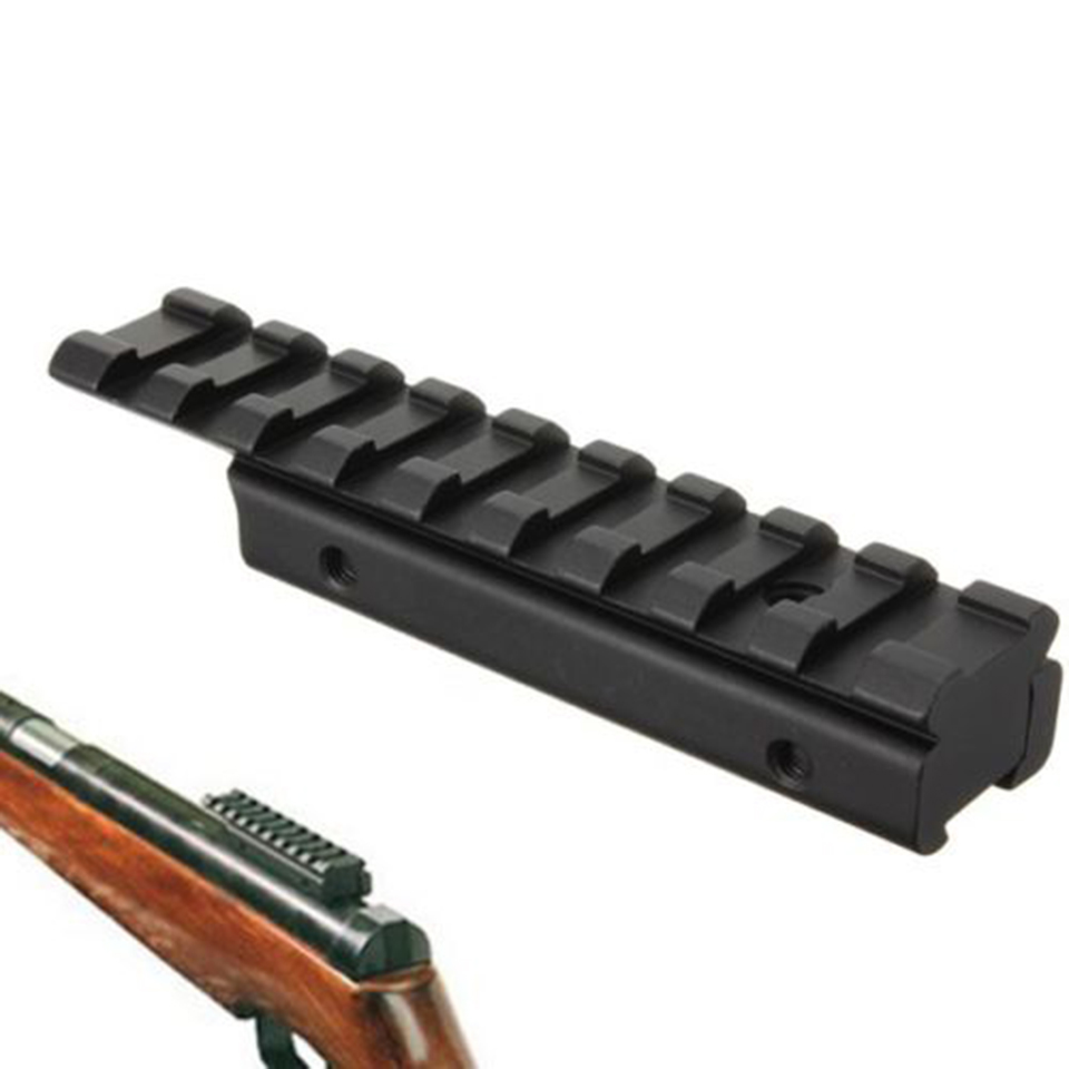 Dovetail extend Weaver Picatinny Rail Adapter 11mm to 20mm Extensible Tactical Scope bases Extend Mount