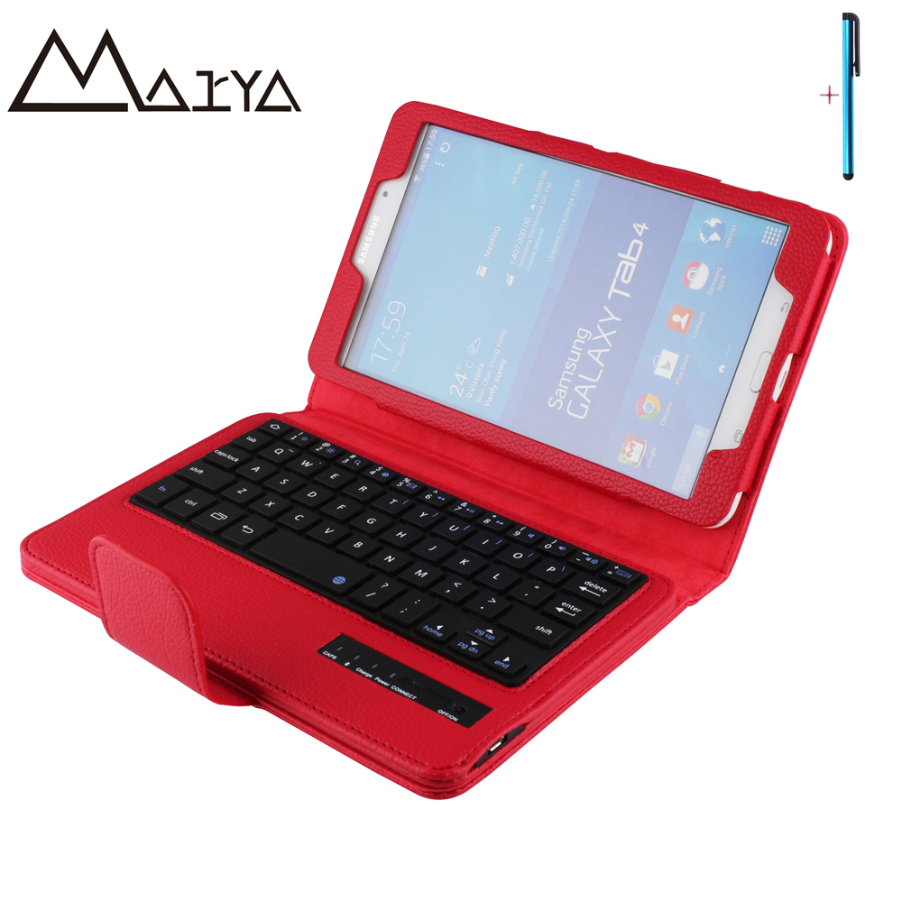 Keyboard For Samsung Galaxy Tab 4 8.0 T330 T331 T335 Tablet Case Removable Wireless Bluetooth Flip Stand PU Leather For Tab4 8.0 new arrive detachable bluetooth keyboard stand case cover for samsung galaxy tab 4 tab4 8 0 t330 sm t330 t331 t335 white