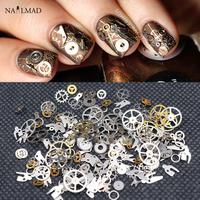 1 Box Steampunk   Nail     Decorations   Ultra Thin Wheel Gear 3D   Nail     Decoration   Steam Punk Metal   Nail   Art   Decoration