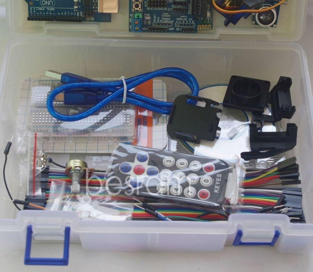 Arduino Robot Smart Car Basic KIT UNO Sensor Breadboard LED L298N Study Starter new basic starter learning kit upgrade version for arduino