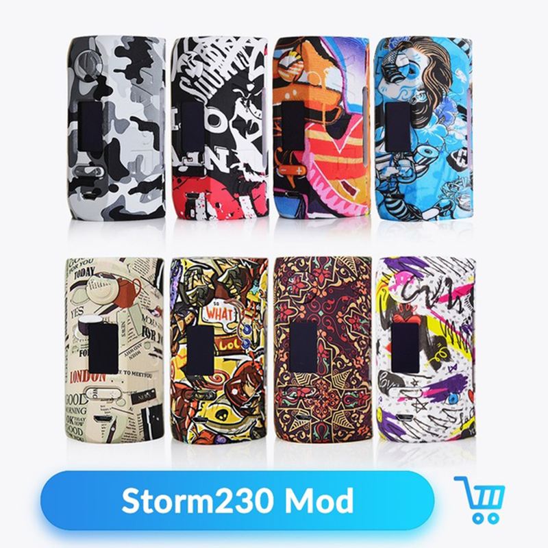 Original Vapor Storm 230 Box Mod 200W VW TCR No 18650 Battery Support Dual Coil Electronic