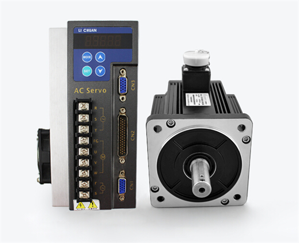 CNC   AC servo motor drive Kit 3ph 220V 130mm 5NM 1300W 1.3KW 2500RPM 5A 3M Cable e6a2 cs5c 50p r rotary encoder new e6a2cs5c 50p r 50pr compact size e6a2 cs5c
