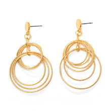Boheme Double Round Womens Earrings