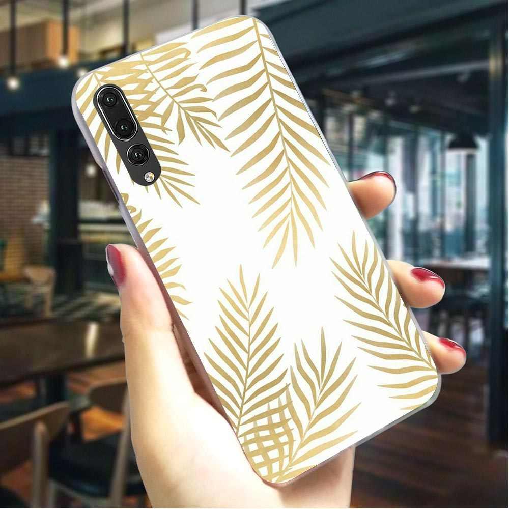 צמח עלים מקרה קשה עבור Huawei Honor 7X Ultra דק טלפון כיסוי עבור Huawei Honor 10 לשחק note10 Y6 2018 y7 ראש בחזרה מקרים