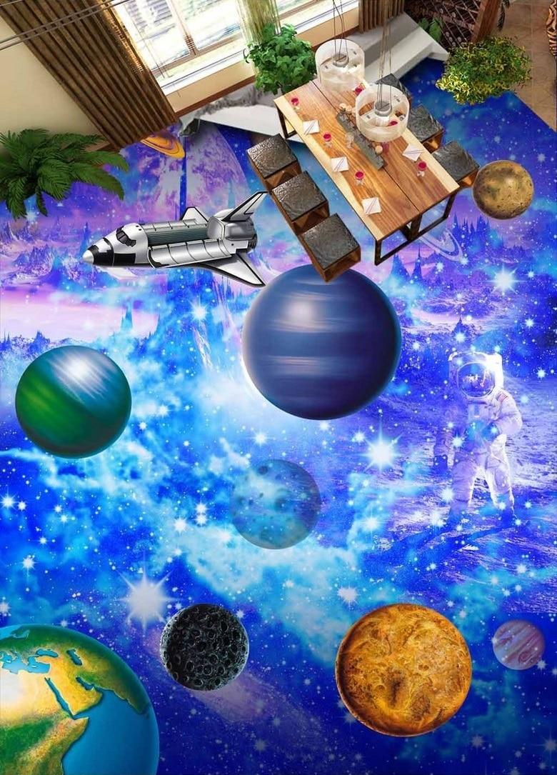 ФОТО WDBH custom mural 3d flooring pvc self adhesive wallpaper star sky Milky Way home decor painting 3d wall murals wallpaper