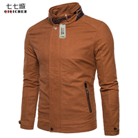 British 2017 Fleece Winter Jacket Men Warm Thick Leather Patchwork Fashion Vintage Stand Collar Slim Fit Bomber Coat Men 3XL