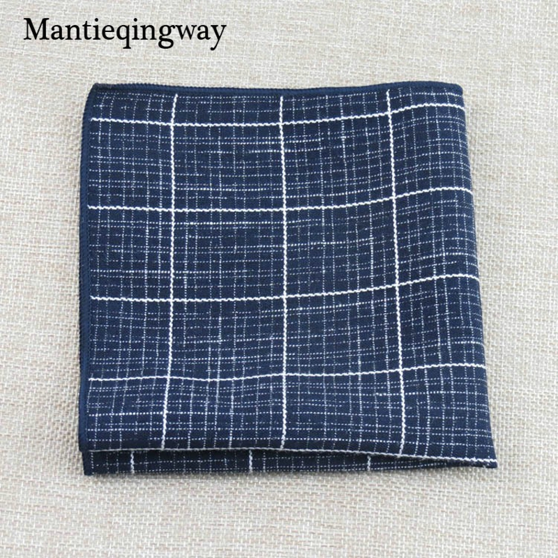 Mantieqingway Plaid Pocket Squares For Men Suits Small Handkerchief For Wedding Marriage Pocket Square Towel Hanky Hankies