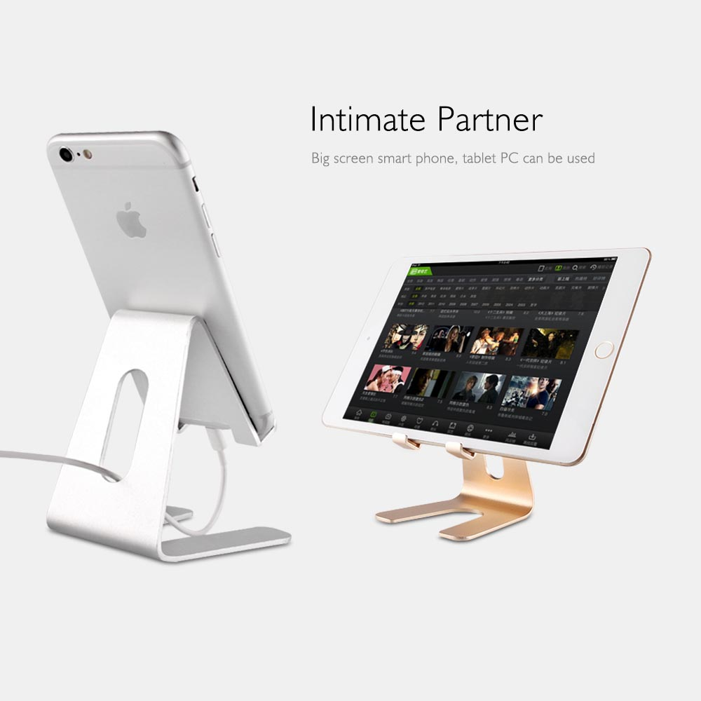 Cellphones & Telecommunications New Fashion Kisscase Universal Phone Holder Stand Tablet Aluminum Desk Holder For Iphone 6 7 Plus 8 Mobile Phone Metal Mount Stand For Ipad