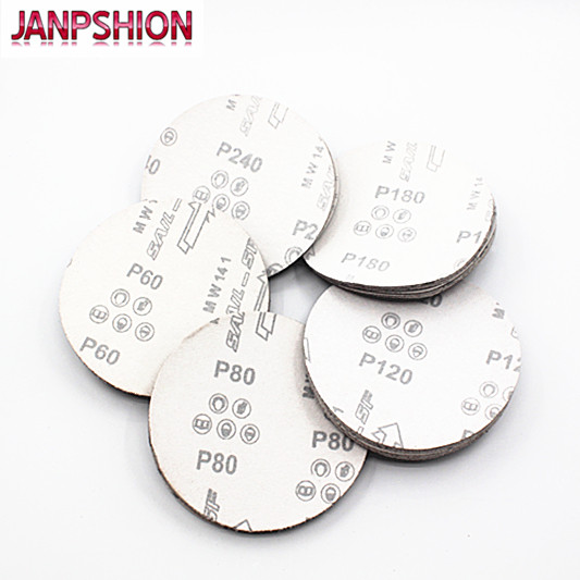 JANPSHION 50pc Carta abrasiva Carta vetrata Floccaggio Autoadesiva - Utensili abrasivi - Fotografia 2