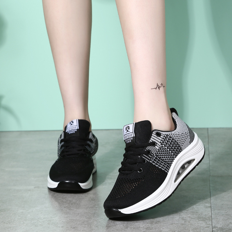 Summer new mesh square women running shoes female ghost dance shoes breathable fly weaving sport shoes air cushion Travel shoes