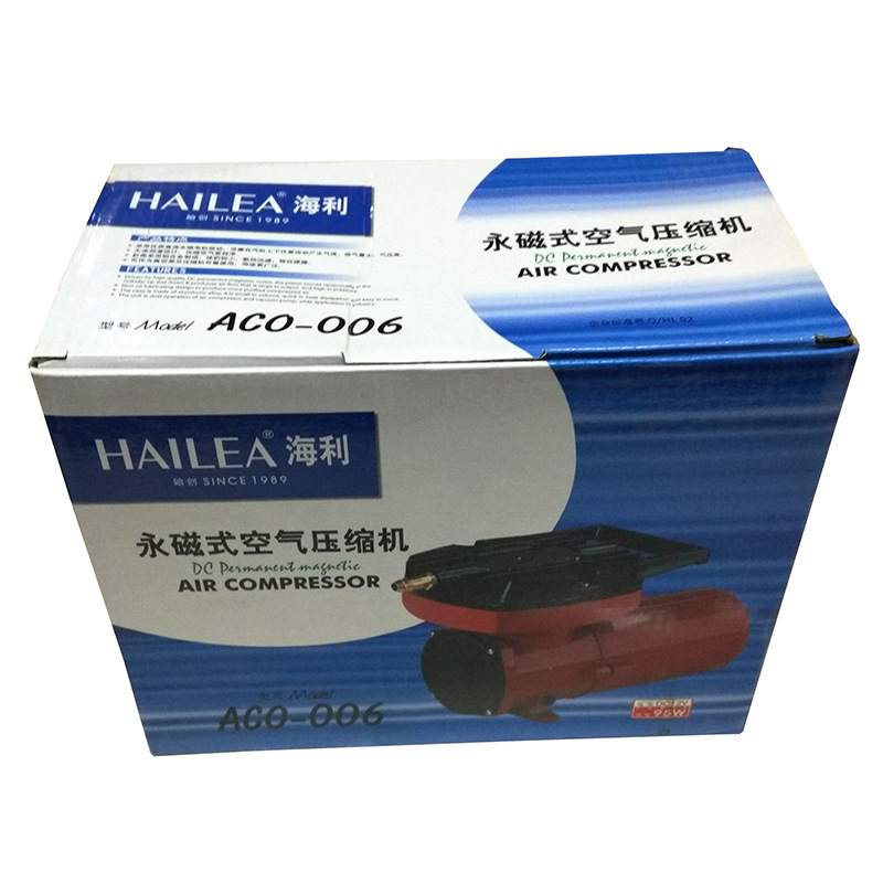 100L Min HAILEA ACO 006 12V DC Permanent Magnetic Aquarium Air Compressor Fish Tank Oxygen Air