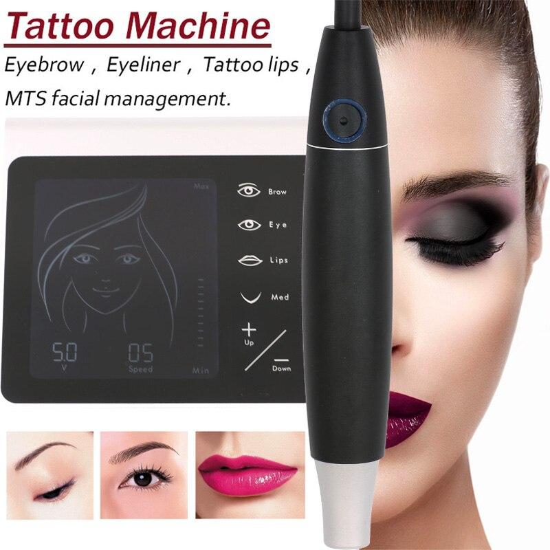 V7 Charme Princesse Liberté Permanent Maquillage Machine Stylo Kit Made-In-Allemagne Sourcils Lèvres Tã ª Te de tatouage machine + 20 pcs Aiguille