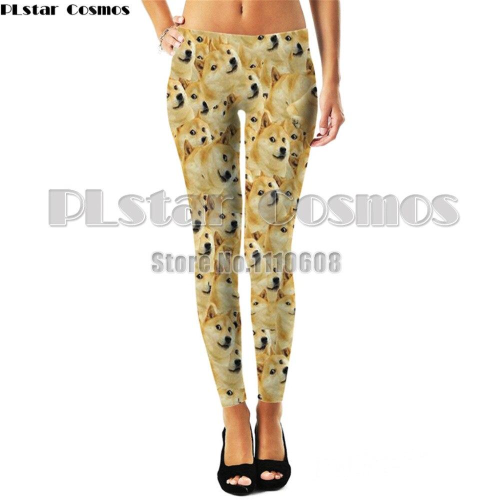 PLstar Cosmos 3D printed food galaxy dog superstar Leggings Women Sexy Hip Push Up Pants Legging Jegging Gothic Leggins Jeggings
