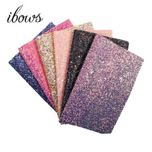 22CM*30CM Glitter Synthetic Leather Chunky Fabric DIY Bag Shoes Accessories Handmade Decoration Materials