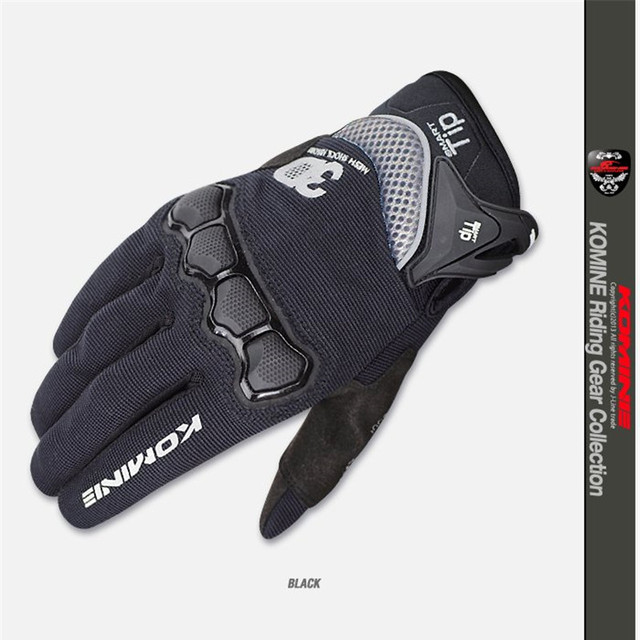 New Summer Touch Screen KOMINE GK162 3D Mesh TECHNOLOGY Motorcycle Rding glove motorbike Moto racing gloves M-XXL 2
