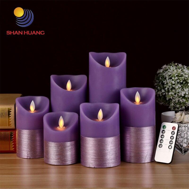 New product purple <font><b>led</b></font> Remote control <font><b>electronic</b></font> candle light home decoration birthday gift <font><b>LED</b></font> purple candle