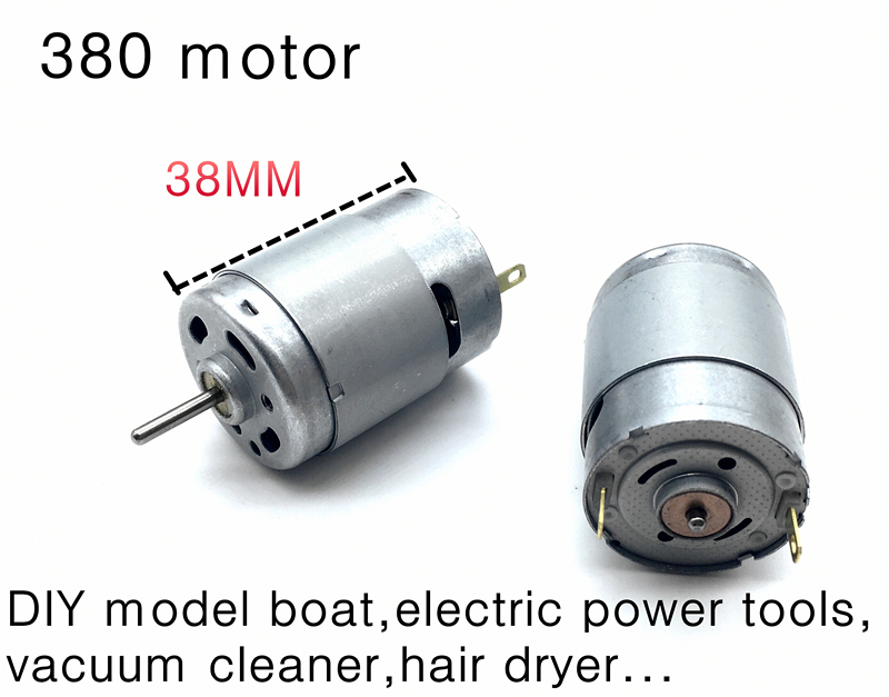 Rs 380 high speed motor diy model boat electric power for Dc motor hair dryer