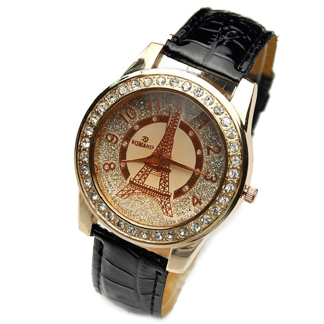 Souvent Top mode Eiffel Paris femmes montre Grand Bling cadran cristal  KZ35