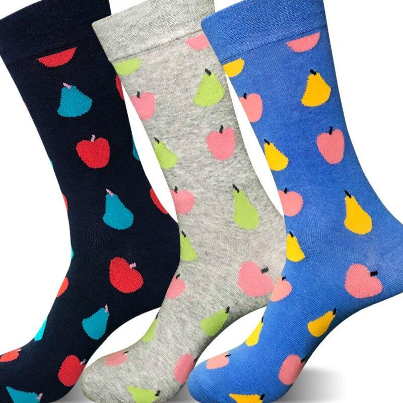 Combed Cotton Mens Socks Colorful Jacquard Workwear Happy Socks Funny Socks Multicolored Pattern Wedding Gifts Funny Mens Socks