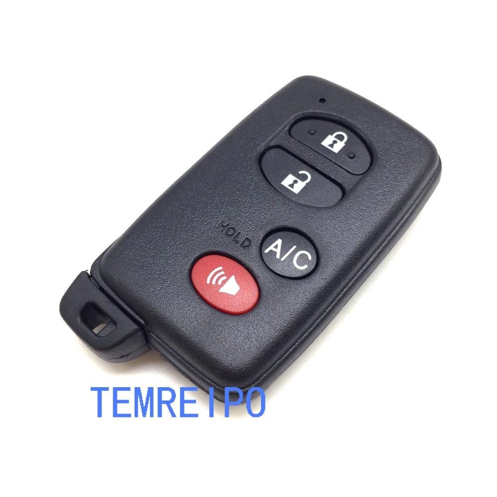 5pcs/lot Replacement Smart Remote Control Key Case 3+1 Button For Toyota Reiz highlander RAV4 Crown 07-09 Key Case Fob