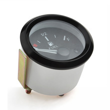 252MM 12V Universal LED Black Edge Fuel Meter Automotive Gauges Level with Sensor