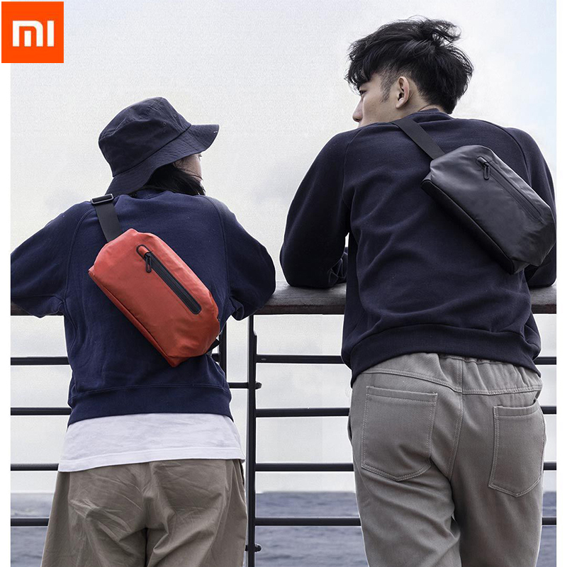 Xiaomi 90 Waterproof Shoulder Bag Cool Casual Chest Bag Waist Bag Money Phone Belt bag For Sport Riding With Safety Warning-in Bags from Consumer Electronics