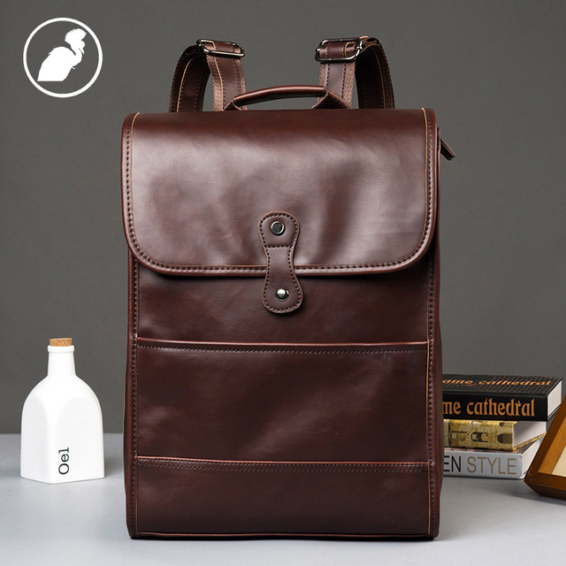 df01efa455 ETONWEAG Brands Cow Leather Backpacks For Teenage Girls Brown Fashion  School Bags For Women 2018 Laptop Backpack Back To School