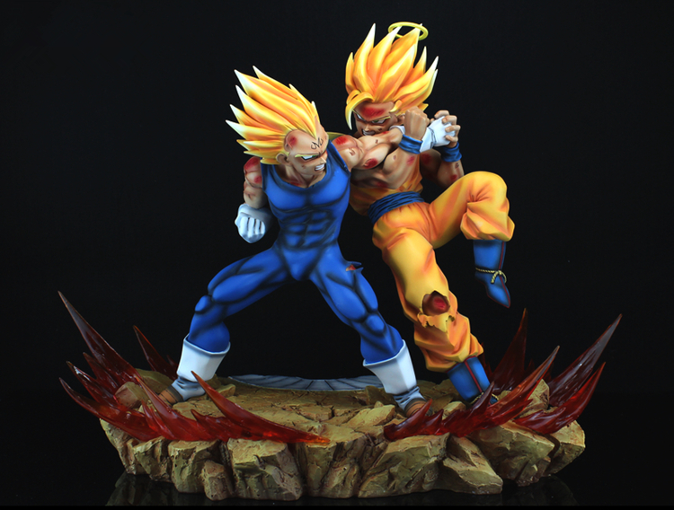 Dragon Ball Z Action Figures Vegeta vs Goku Super Saiyan ...