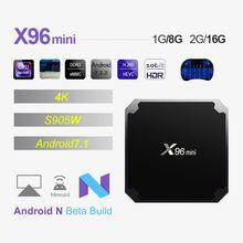 X96 mini Android 7.1 Smart TV Box 1G8G/2G16G Amlogic S905W Quad Core 2.4GHz  Wifi 4K HD Media Player  X96mini Set Top Box