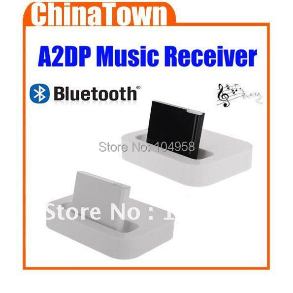 Free Shipping Wireless Bluetooth A2DP Audio Receiver Adapter for iPhone/iPod with 30-Pin Dock Speaker